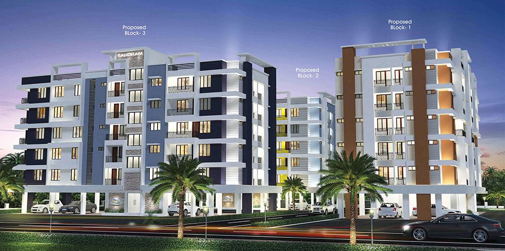 Ready to occupy flats thrissur, Sandram Regency Olari Thrissur